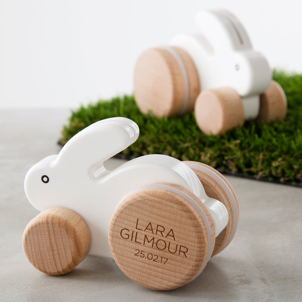 Personalised Wooden Rabbit Toy