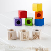 Personalised Wooden Activity Blocks