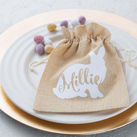 Personalised Easter Jute Bag