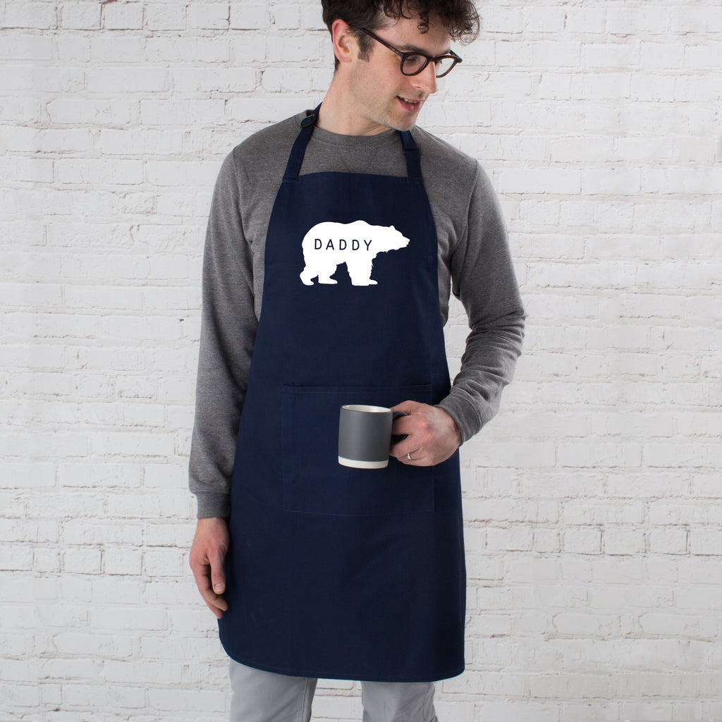 Personalised Daddy Bear Father's Day Apron