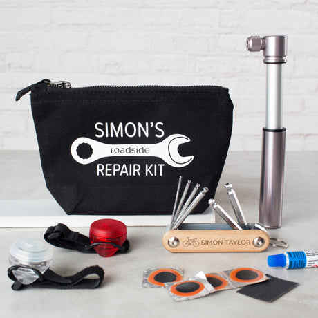 Personalised Cycling Repair Kit Gift Set