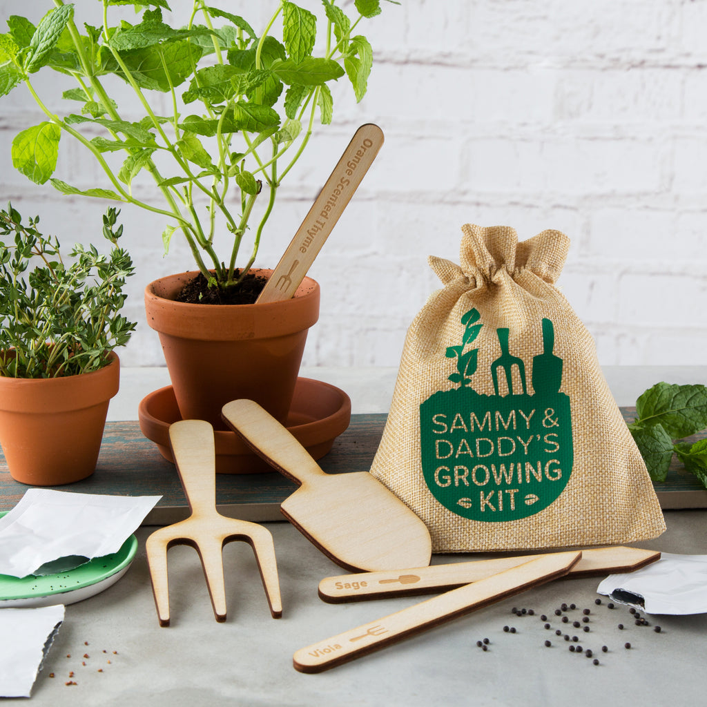 Personalised Father's Day Gardening Growing Kit