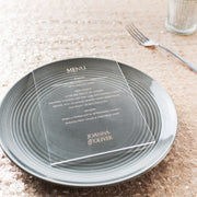 Personalised Clear Acrylic Menu Cards