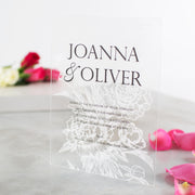Personalised Acrylic Floral Wedding Invitations