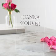 Personalised Acrylic Metallic Wedding Invitations