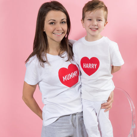 Personalised Valentine's Day Family Pyjamas