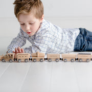 Personalised Wooden Birthday Train Set