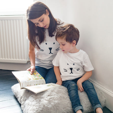 Bunny Mother And Child Mother's Day T Shirt Set