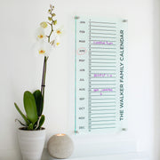 Personalised Tall Family Acrylic Monthly Wall Calendar