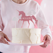 Personalised Unicorn Cake Topper Scene