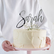 Classic Personalised Acrylic Cake Topper