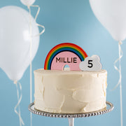 Personalised Rainbow Cake Topper