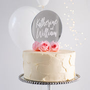 Mirrored Circular Couples Cake Topper