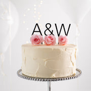 Personalised Modern Couples Initials Cake Topper