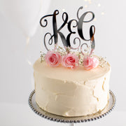 Personalised Script Couples Initials Cake Topper