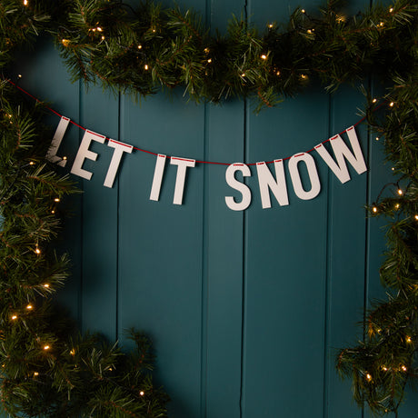 Festive Acrylic 'Let It Snow' Christmas Bunting