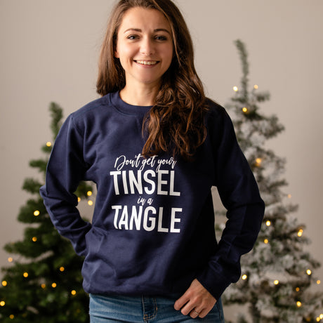 Don't Get Your Tinsel In A Tangle Christmas Jumper