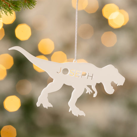 Personalised Dinosaur Christmas Decoration