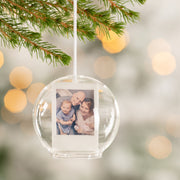 Personalised Family Photo Glass Dome Bauble