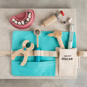 Personalised Children's Wooden Dentist Tool Belt Toy