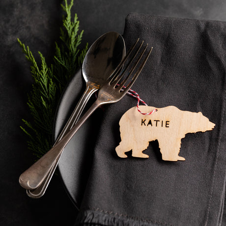 Personalised Wooden Christmas Place Setting