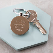 Personalised Days You've Been My Daddy Keyring