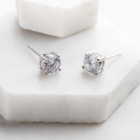 Personalised Mother's Day Diamante Stud Earrings