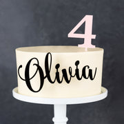 Personalised Acrylic Birthday Age Side On Cake Topper
