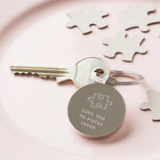 Personalised Love You To Pieces Keyring