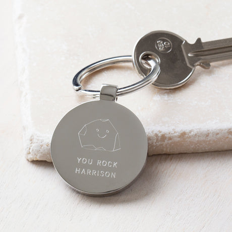 Personalised You Rock Valentine's Day Keyring