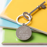 Personalised Out Of This World Valentine's Keyring