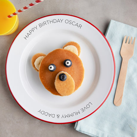 Personalised Birthday Enamel Plate