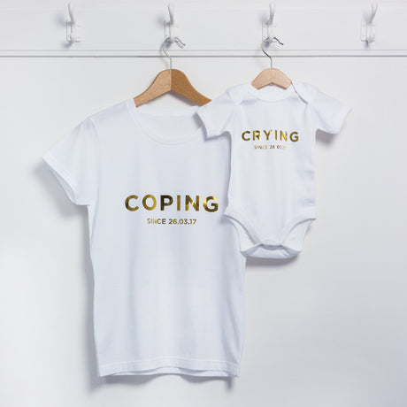 Coping Crying Mum And Me T Shirt Set