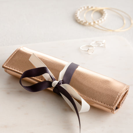 Rose Gold Jewellery Roll For Mother's Day