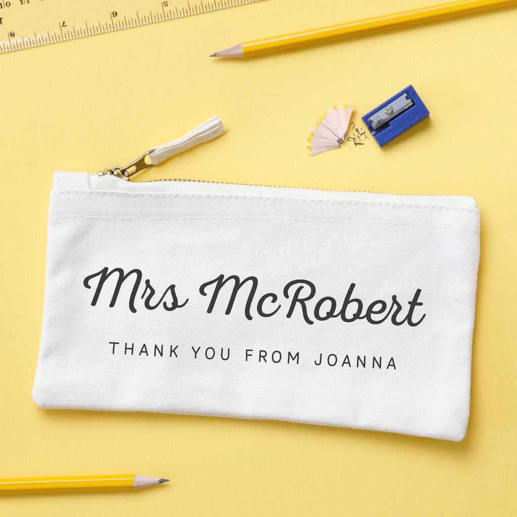 Personalised Thank You Teacher Pencil Case