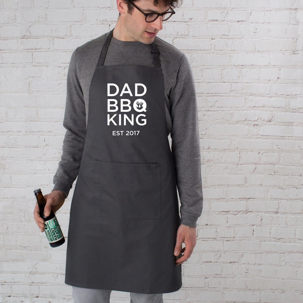 Personalised Dad BBQ King Apron