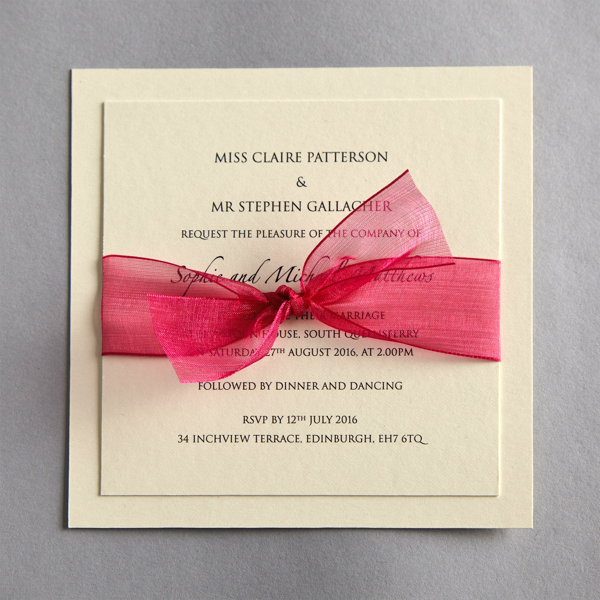 Organza Wedding Invitation | Twenty-Seven