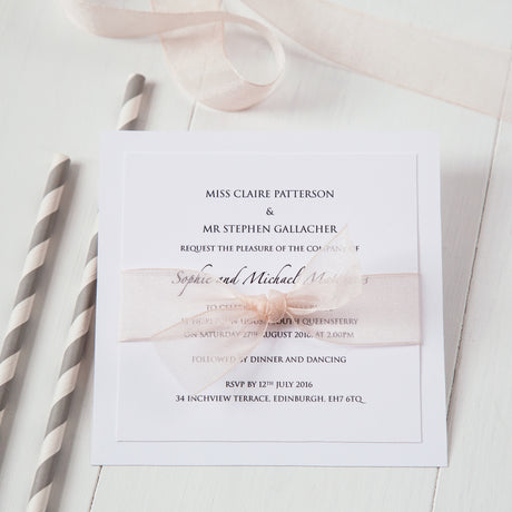Organza Wedding Invitation