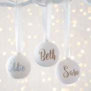Personalised Ceramic Glitter Bauble