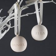 Personalised Engraved Ceramic Bauble