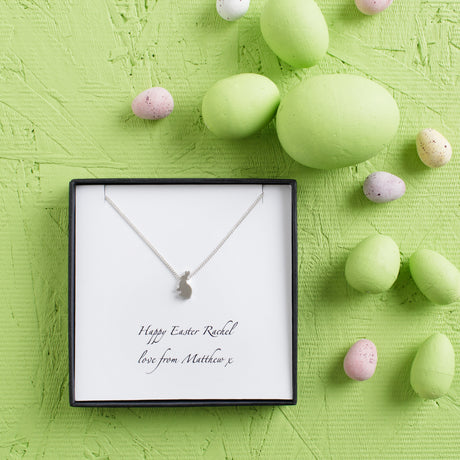 Personalised Silver Rabbit Charm Necklace