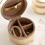Round Travel Jewellery Box For Mother's Day