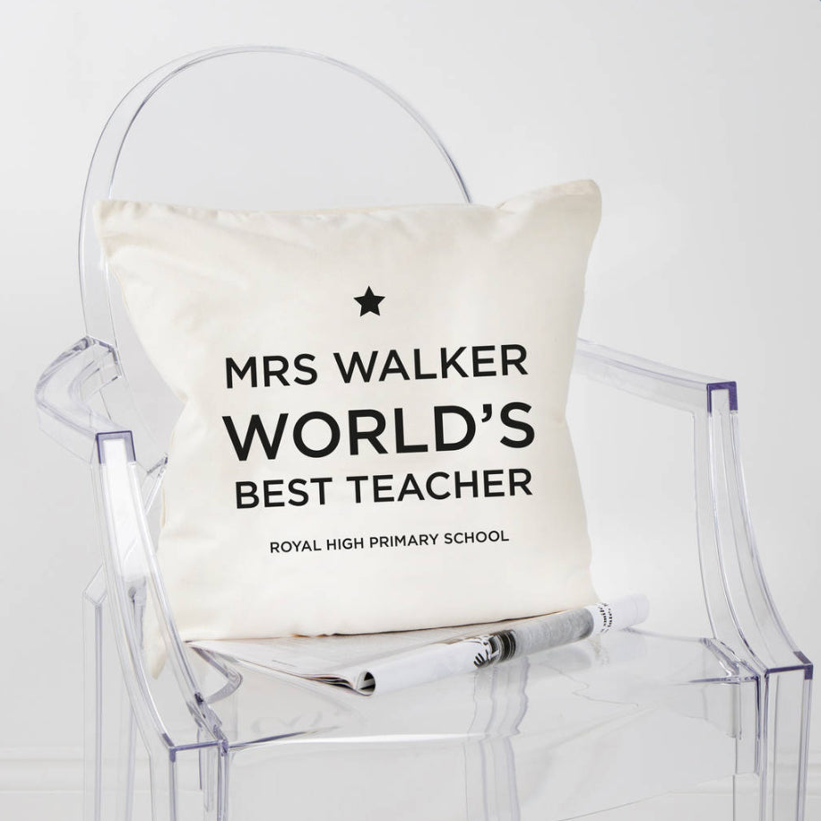 Personalised Thank You Teacher Cushion