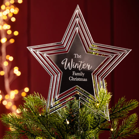 Personalised Star Christmas Tree Topper
