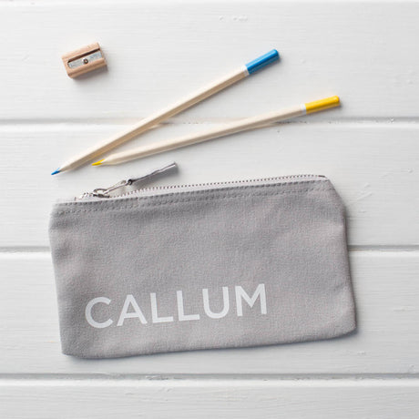 Personalised Canvas Pencil Case