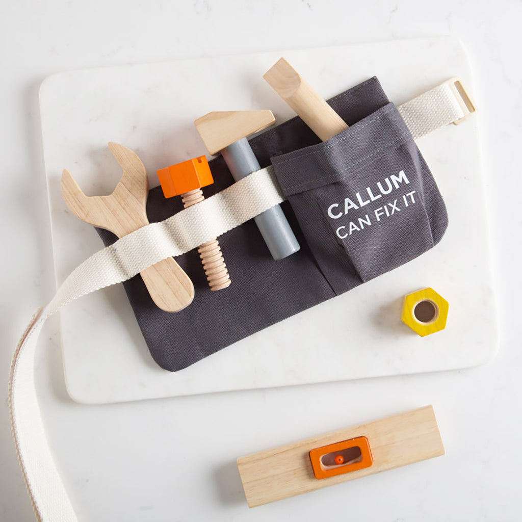 Personalised Children's Wooden Tool Belt Toy