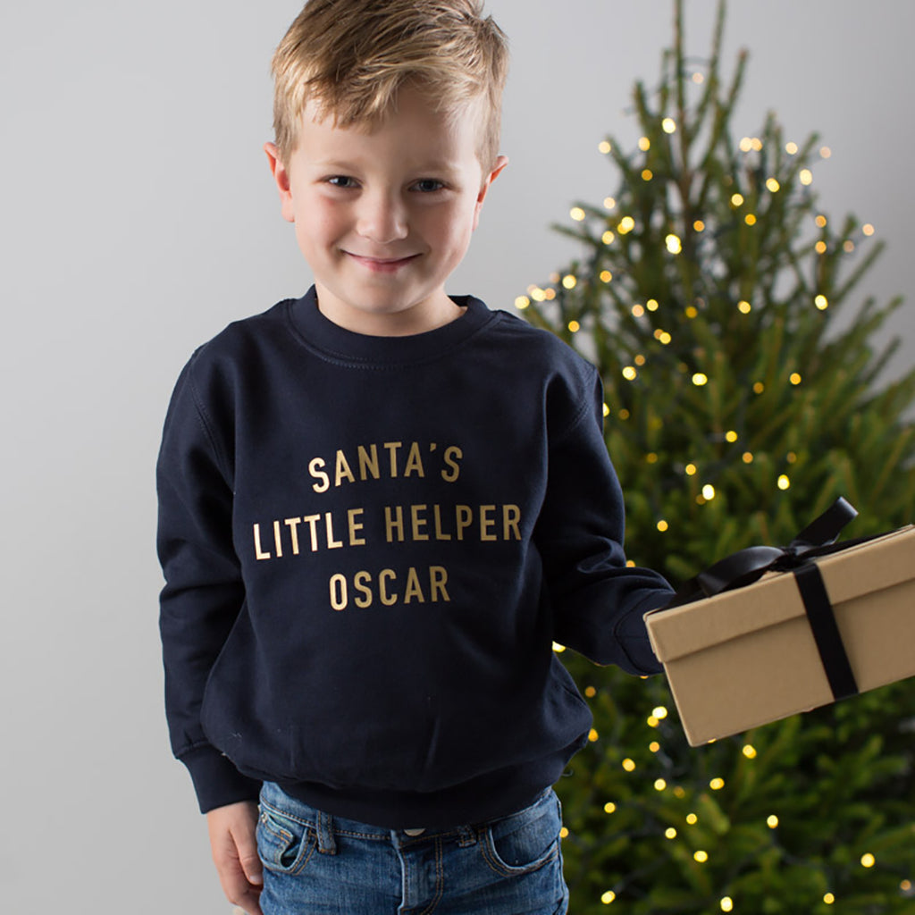 Personalised Santa's Little Helper Christmas Jumper