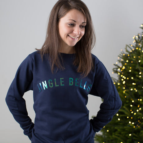 Jingle Bells Iridescent Christmas Jumper