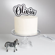Personalised Acrylic Bubble Cake Topper