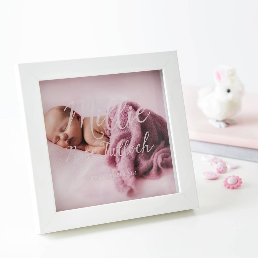 Christening Naming Day Photo Box Frame